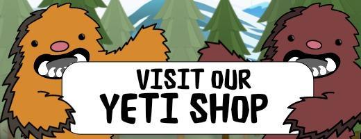 Yeti Shop Sign
